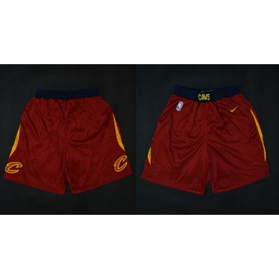 NBA Cavaliers Red Nike 2017-18 Autentic Shorts