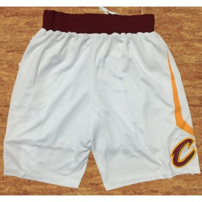 NBA Cavaliers Nike White Swingman Shorts