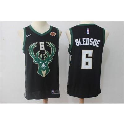 NBA Bucks 6 Eric Bledsoe Black Nike Swingman Men Jersey