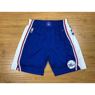 NBA 76ers Blue Nike Authentic Shorts