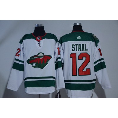 NHL Wild 12 Eric Staal White Adidas Men Jersey