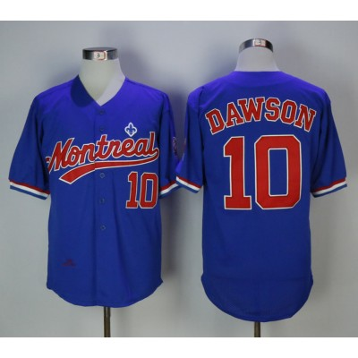 MLB Expos 10 Andre Dawson Blue Cooperstown Collection Mesh Batting Practice Men Jersey