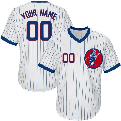 MLB Cubs White Throwback New Design Customized Men Jersey