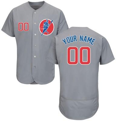 MLB Cubs Gray Flexbase New Design Customized Men Jersey