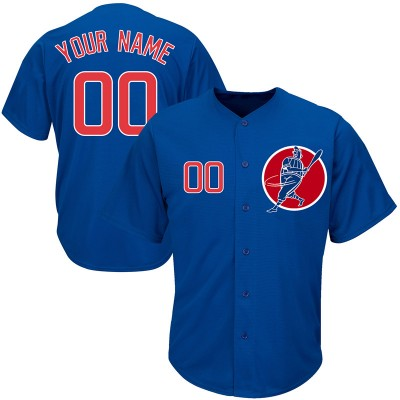 MLB Cubs Blue Cool Base New Design Customized Men Jersey