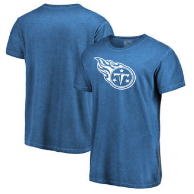 NFL Titans White Logo Shadow Washed T-Shirt -