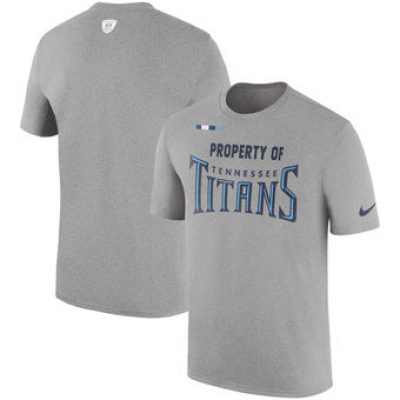 NFL Titans Nike Sideline Property Of Facility T-Shirt Heather Gray