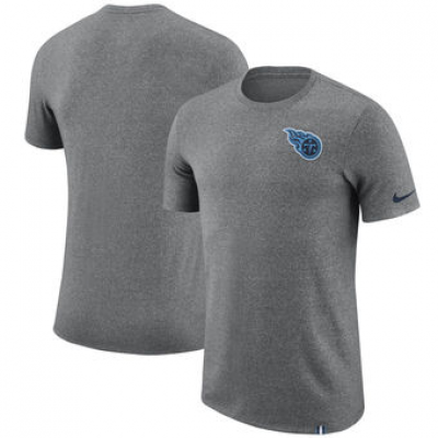 NFL Titans Nike Marled Patch T-Shirt Heathered Gray