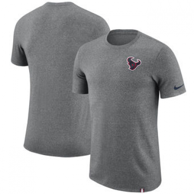 NFL Texans Nike Marled Patch T-Shirt Heathered Gray