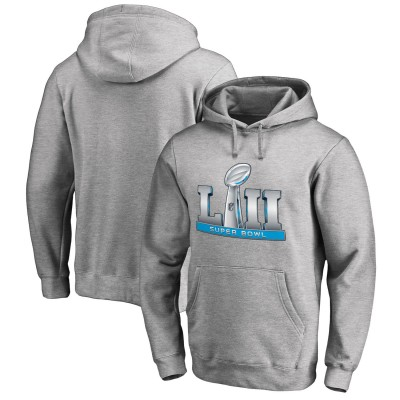 NFL Super Bowl LII Event Heathered Gray Men Pullover Hoodie