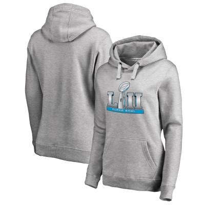NFL Super Bowl LII Event Heather Gray Women Pullover Hoodie