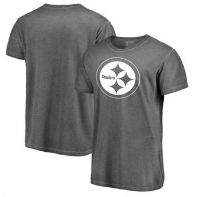 NFL Steelers White Logo Shadow Washed T-Shirt -
