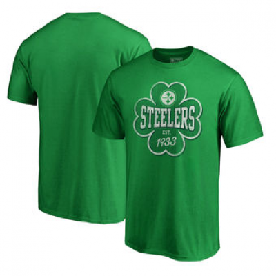 NFL Steelers St. Patrick's Day Emerald Isle Big and Tall T-Shirt Green