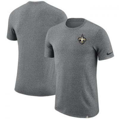 NFL Saints Nike Marled Patch T-Shirt Heathered Gray