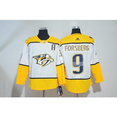 NHL Predators 9 Filip Forsberg White Adidas Men Jersey