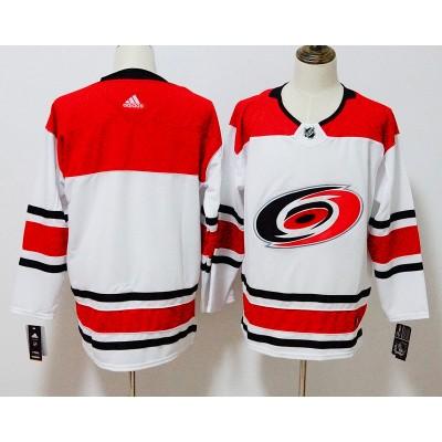 NHL Hurricanes Blank White Adidas Men Jersey