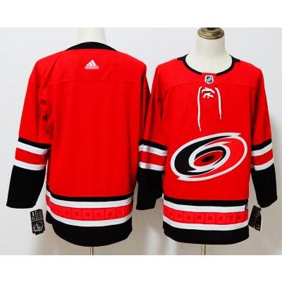 NHL Hurricanes Blank Red Adidas Men Jersey