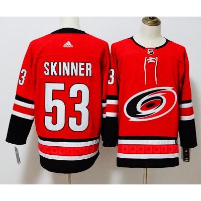 NHL Hurricanes 53 Jeff Skinner Red Adidas Men Jersey