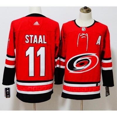 NHL Hurricanes 11 Jordan Staal Red Adidas Men Jersey
