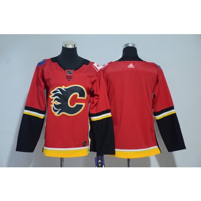 NHL Flames Blank Red Adidas Youth Jersey