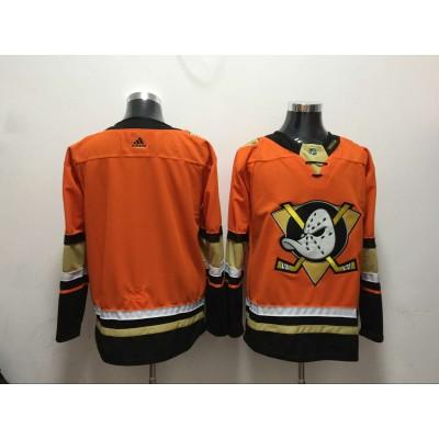NHL Ducks Blank Orange Adidas Men Jersey