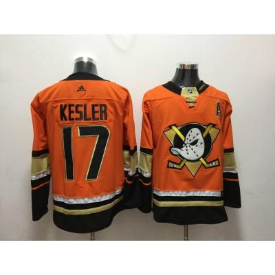 NHL Ducks 17 Ryan Kesler Orange Adidas Men Jersey