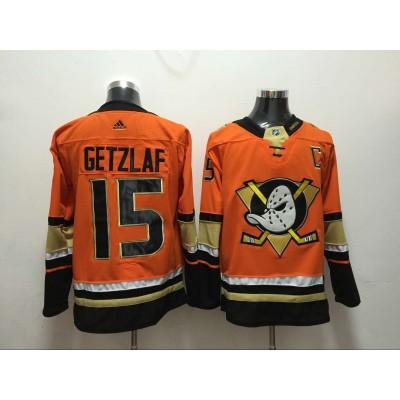 NHL Ducks 15 Ryan Getzlaf Orange Adidas Men Jersey