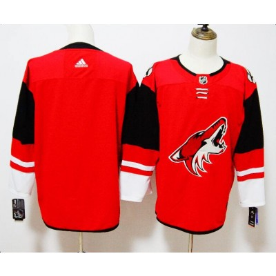 NHL Coyotes Blank Red Adidas Men Jersey