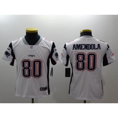 NFL Patriots 80 Danny Amendola White Vapor Untouchable Nike Limited Youth Jersey
