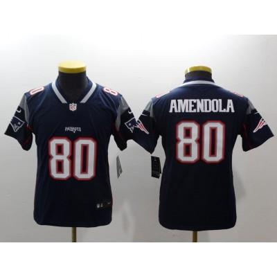NFL Patriots 80 Danny Amendola Navy Vapor Untouchable Nike Limited Youth Jersey