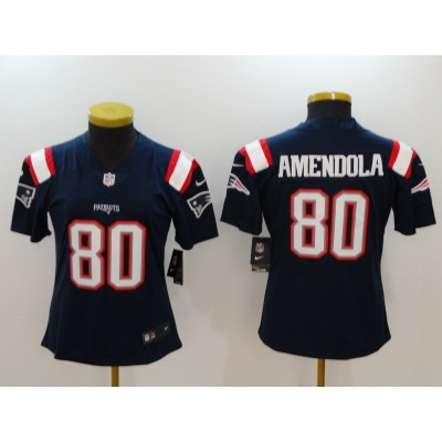 NFL Patriots 80 Danny Amendola Navy Color Rush Nike Limited Women Jersey