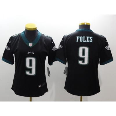 NFL Eagles 9 Nick Foles Black Vapor Untouchable Nike Limited Women Jersey