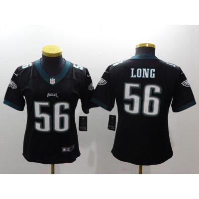 NFL Eagles 56 Chris Long Black Vapor Untouchable Nike Limited Women Jersey