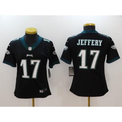 NFL Eagles 17 Alshon Jeffery Black Vapor Untouchable Nike Limited Women Jersey