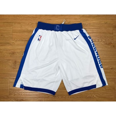 NBA Warriors White Throwback Nike Basketball Shorts