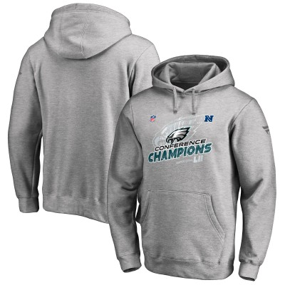 NFL Eagles Heather Gray 2017 NFC Champions Pullover Men Hoodie