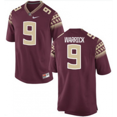 NCAA Florida State Seminoles 9 Warrick College Football Limited Men Jersey