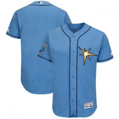 MLB Tampa Bay Rays Light Blue 2018 Spring Training Flex Base Men Jersey