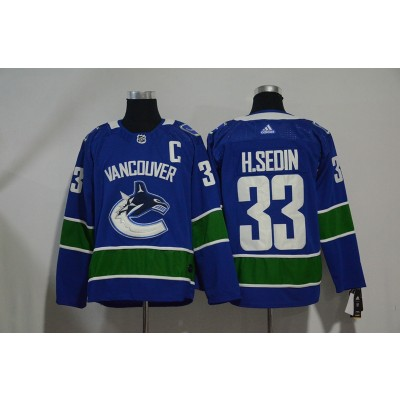 NHL Canucks 33 Henrik Sedin Blue Adidas Men Jersey