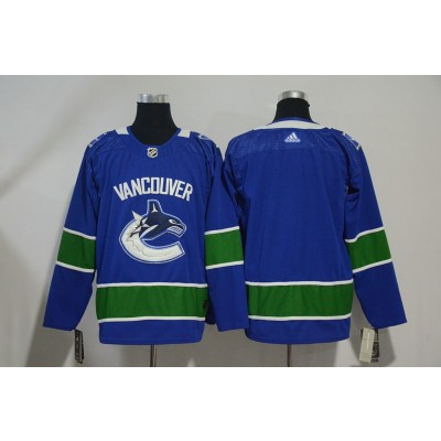 NHL Canucks Blank Blue Adidas Men Jersey