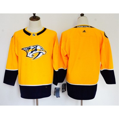 NHL Predators Blank Gold Adidas Women Jersey