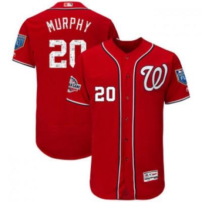 MLB  Nationals 20 Daniel Murphy 2018 Spring Training Flex Base Men Jersey