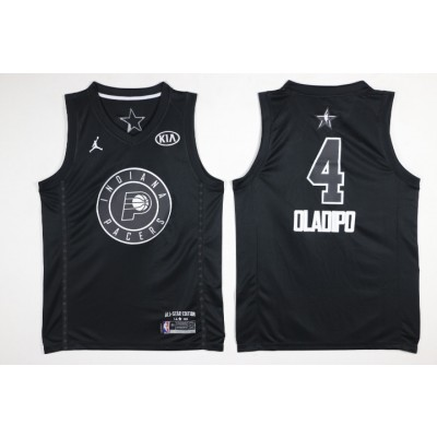NBA Pacers 4 Victor Oladipo 2018 All-Star Black Swingman Men Jersey