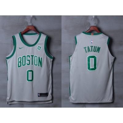 NBA Celtics 0 Jayson Tatum Gray Nike City Edition Authentic Men Jersey