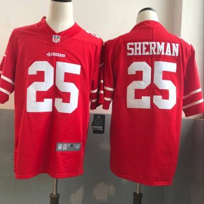 Nike NFL 49ers 25 Richard Sherman Red Vapor Untouchable Limited Men Jersey