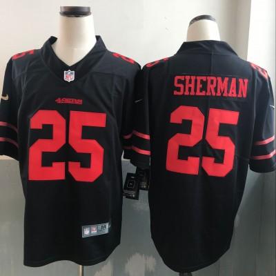 Nike NFL 49ers 25 Richard Sherman Black Vapor Untouchable Limited Men Jersey