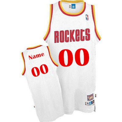 NBA Rockets Vintage Custom White Men Jersey