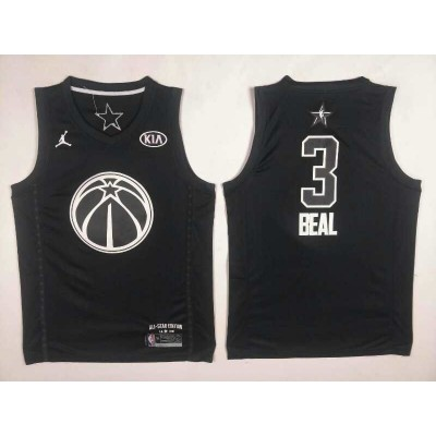 NBA Wizards 3 Bradley Beal 2018 All-Star Black Swingman Men Jersey