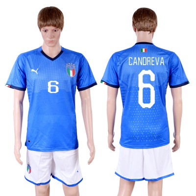 2018-19 Italy 6 CANDREVA Home Soccer Men Jersey