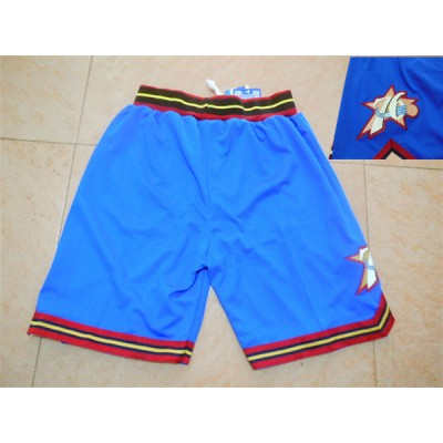 NBA 76ers Blue Throwback Shorts